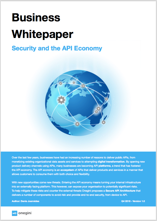 Business Whitepaper - Security and the API Economy