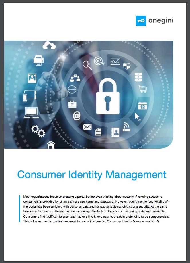 Brochure - Onegini Consumer Identity Management