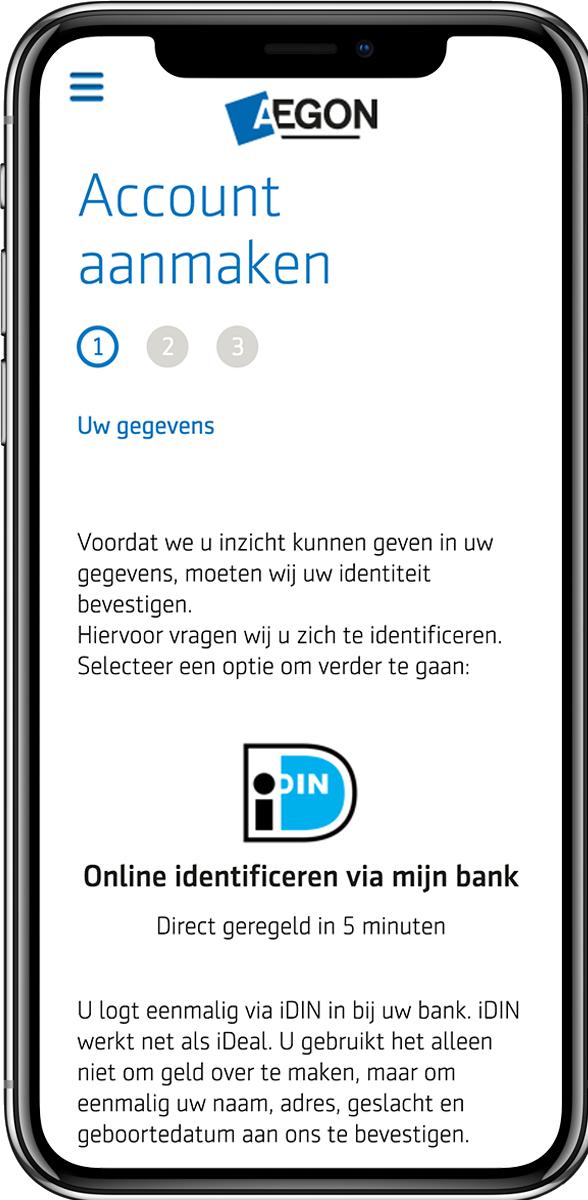 aegon mobile login idin screenshot