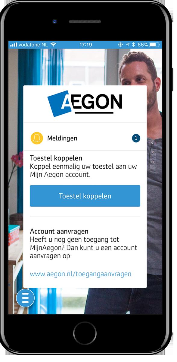 Mobile Aegon iPhone 6 (test) screenshot