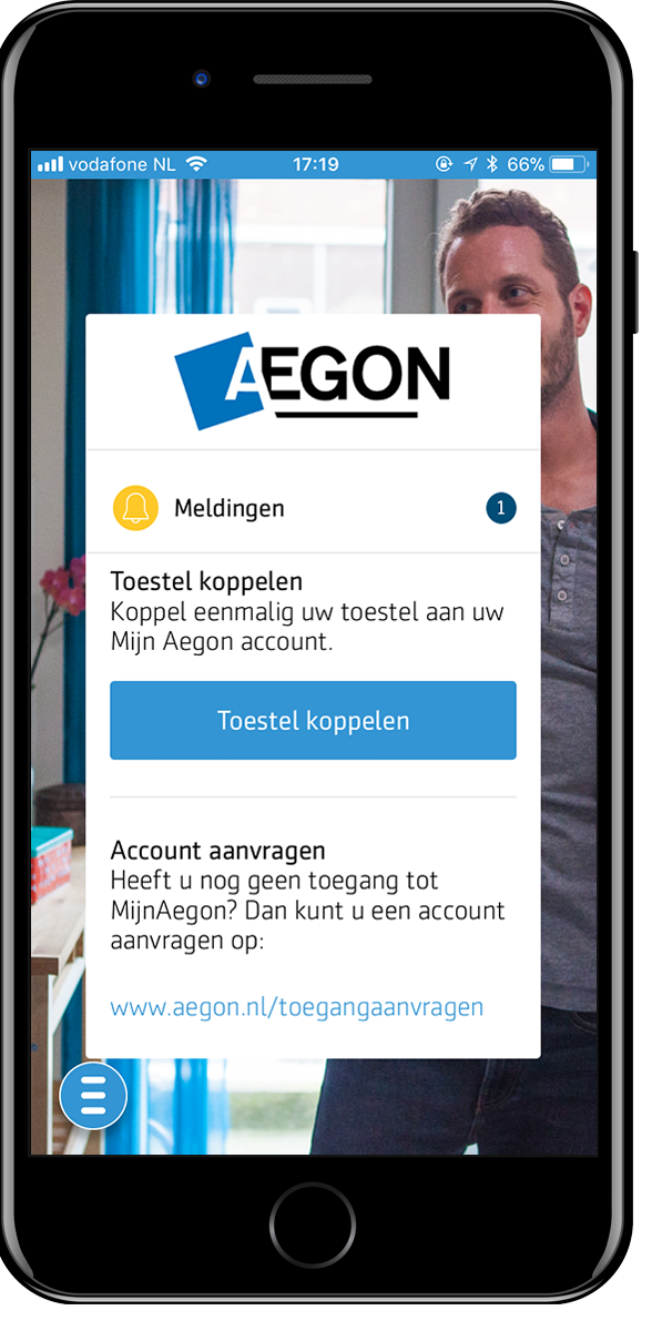 Mobile Aegon iPhone 6 (test) screenshot